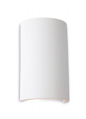 Firstlight 8323 White with White LED's Gallery Round Plaster Wall Light